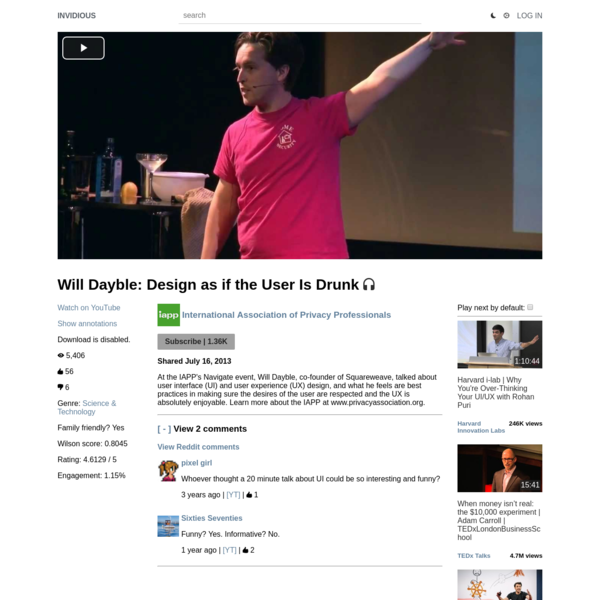 Will Dayble: Design as if the User Is Drunk