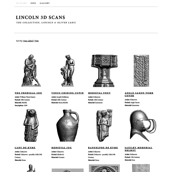 Lincoln 3D Scans | The Collection, Lincoln & Oliver Laric