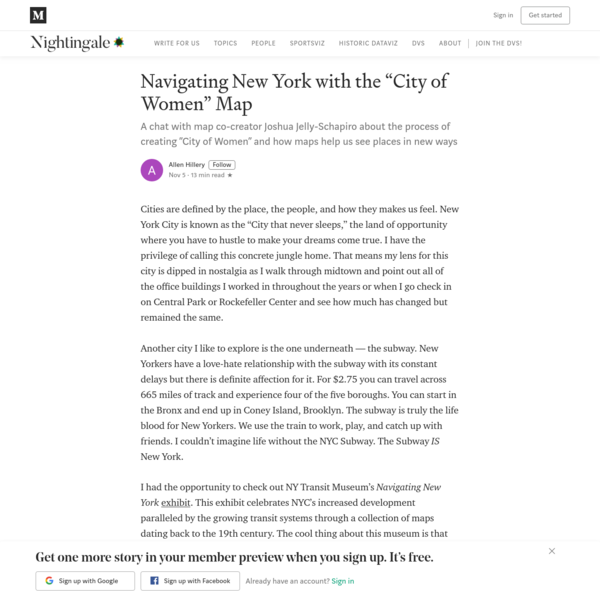 """Navigating New York with the """"City of Women"""" Map"""