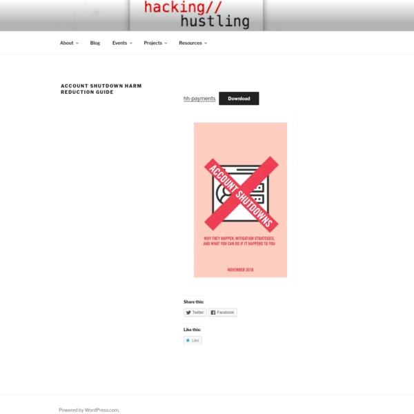 Account Shutdown Harm Reduction Guide