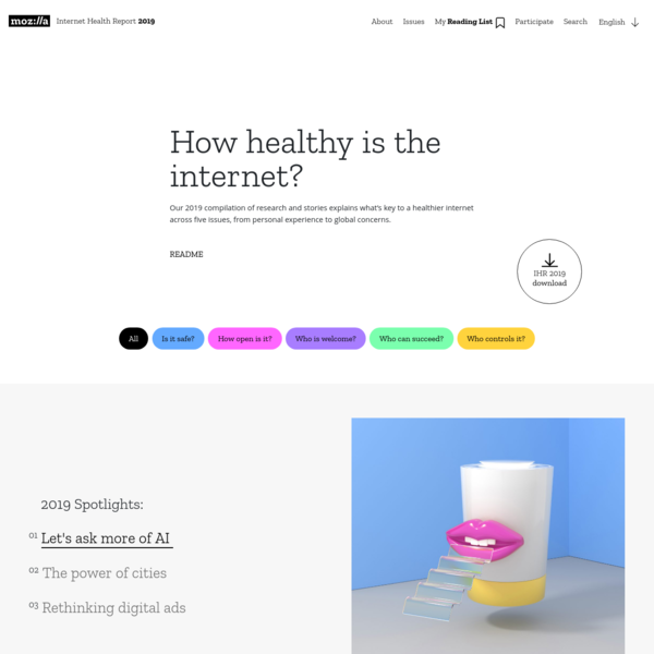 How healthy is the internet? - The Internet Health Report 2019