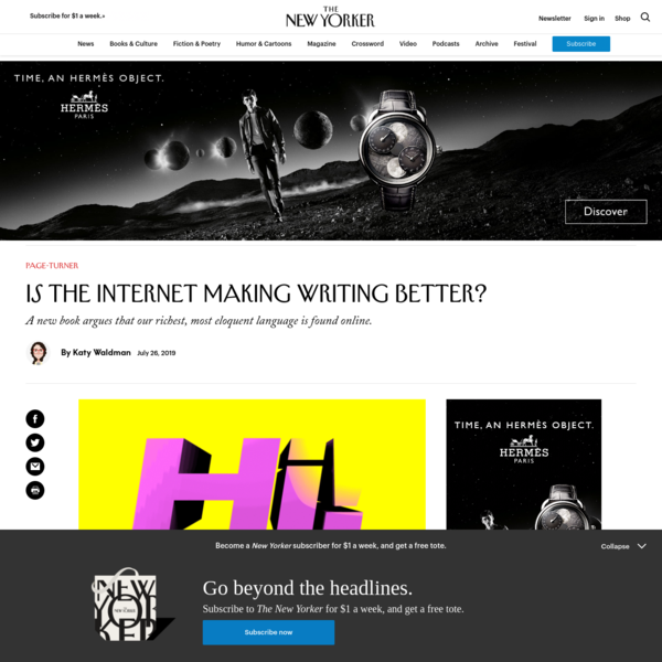 Is the Internet Making Writing Better?