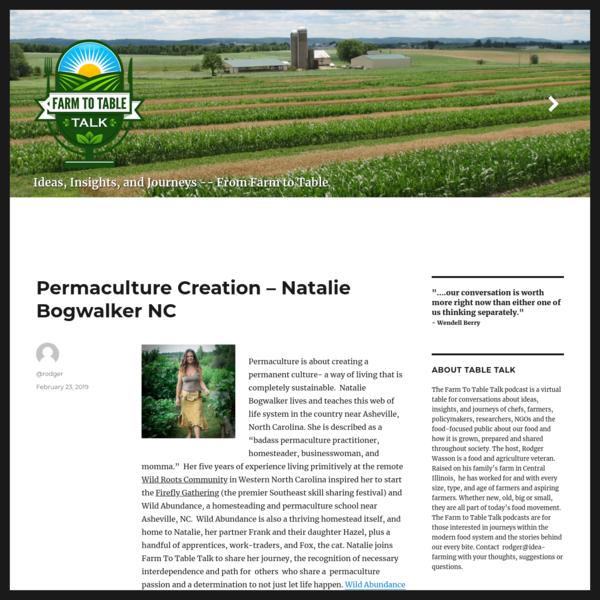 Permaculture Creation - Natalie Bogwalker NC