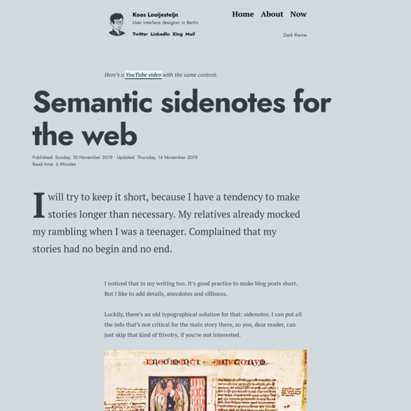 Semantic sidenotes for the web