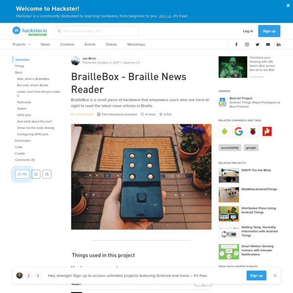 BrailleBox - Braille News Reader - Hackster.io