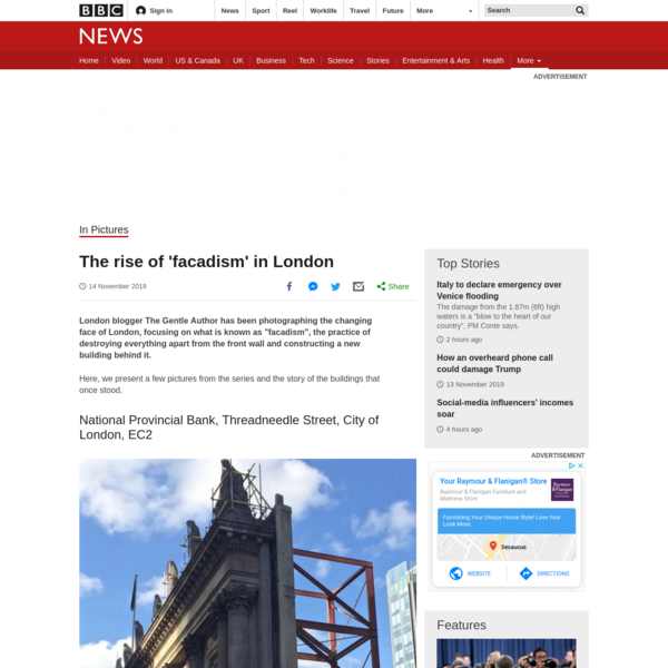 The rise of 'facadism' in London