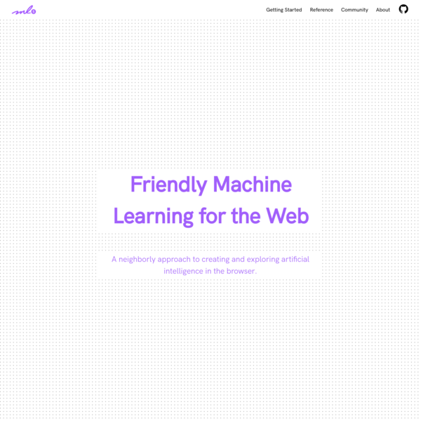ml5js·Friendly Machine Learning For The Web