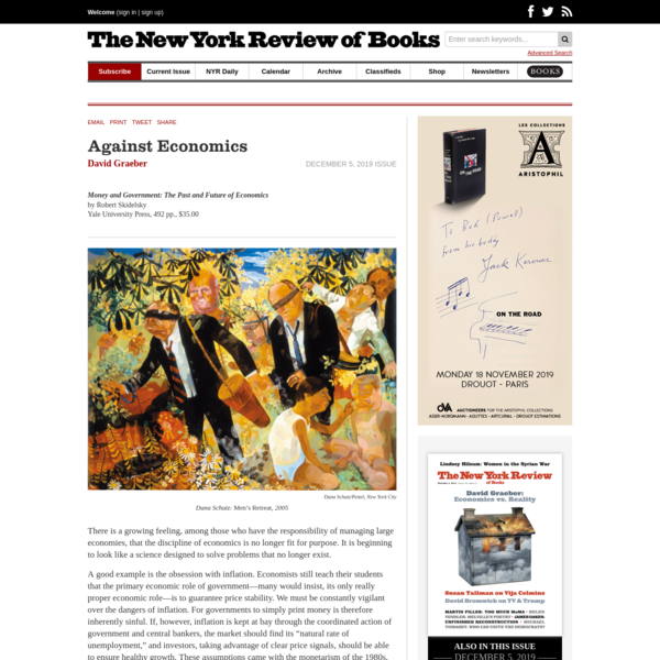 Against Economics | by David Graeber | The New York Review of Books