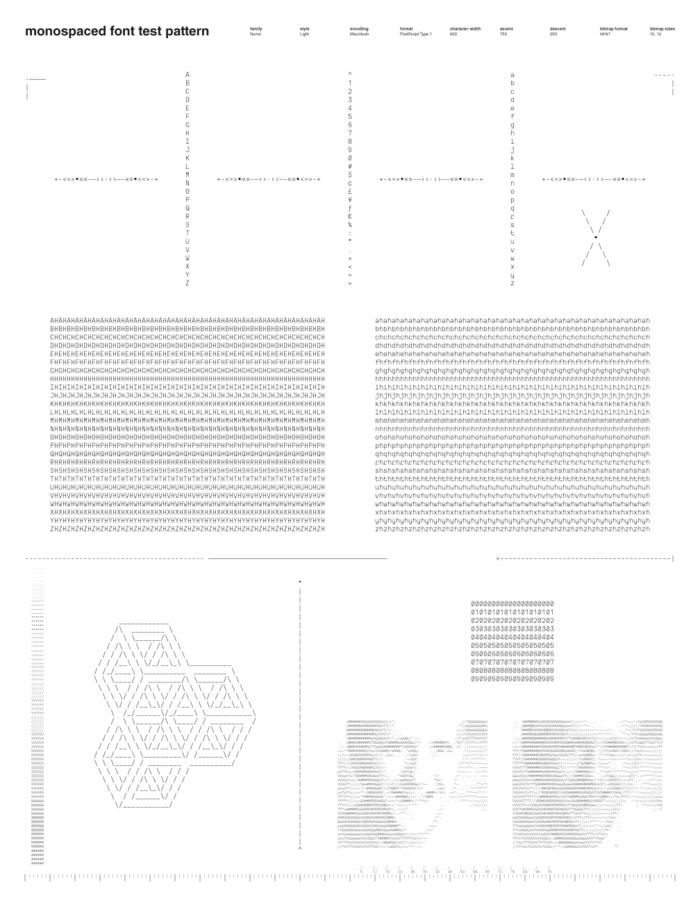 Monospace Test Pattern