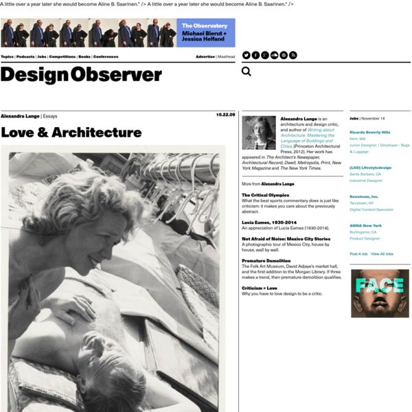 Love & Architecture: Design Observer