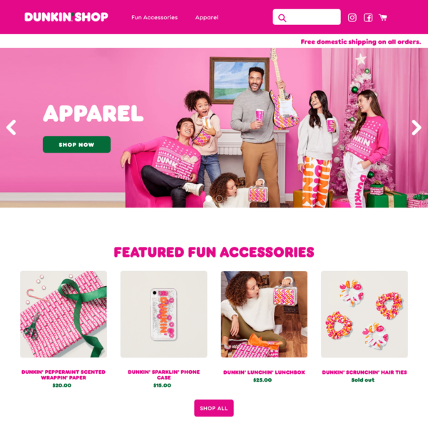 Shop Dunkin' Holiday Apparel and Accessories | Dunkin'