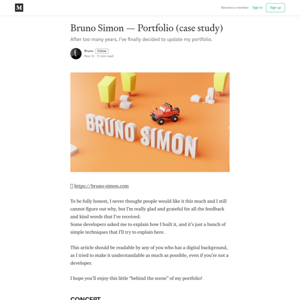 Bruno Simon-Portfolio (case study)