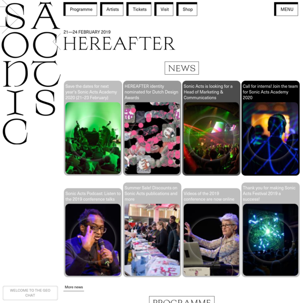 SonicActs 2019 HEREAFTER