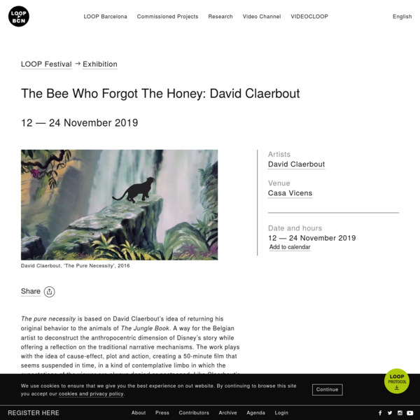 The Bee Who Forgot The Honey: David Claerbout