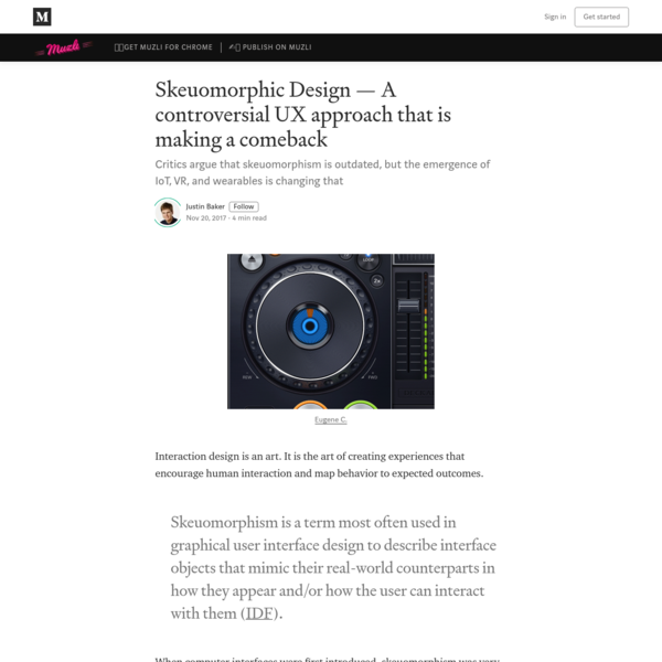 Skeuomorphic Design - A controversial UX approach that is making a comeback