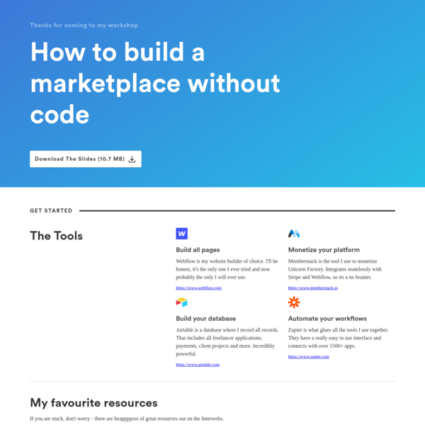 How to build a marketplace without code - No Code Conference