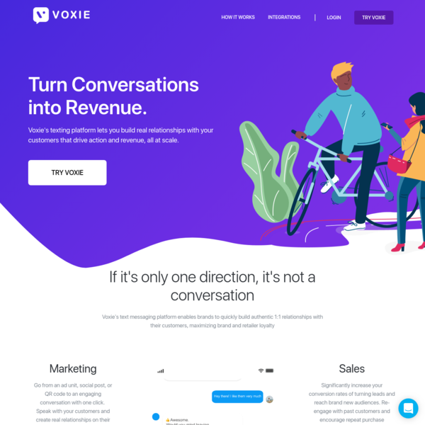 Voxie - Scalable 1 to 1 Conversational Marketing