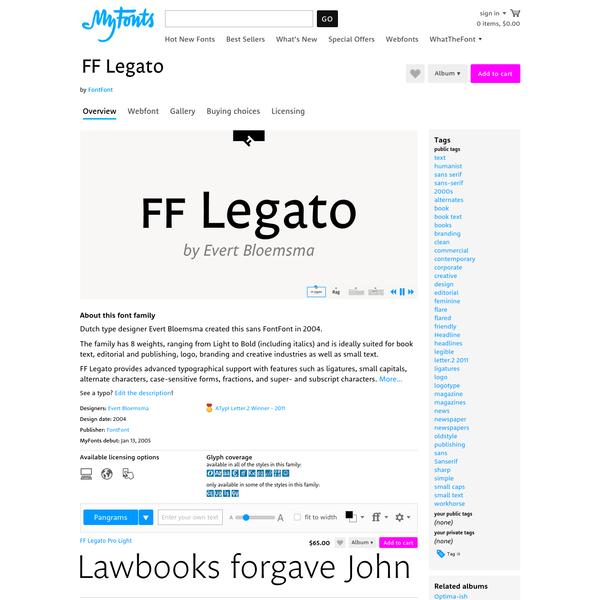 "FF Legato® - Webfont & Desktop font "" MyFonts"