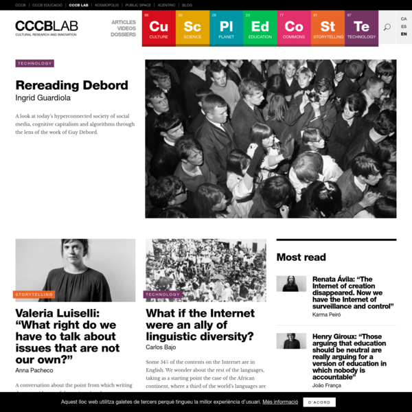 CCCB LAB | Cultural Research and Innovation