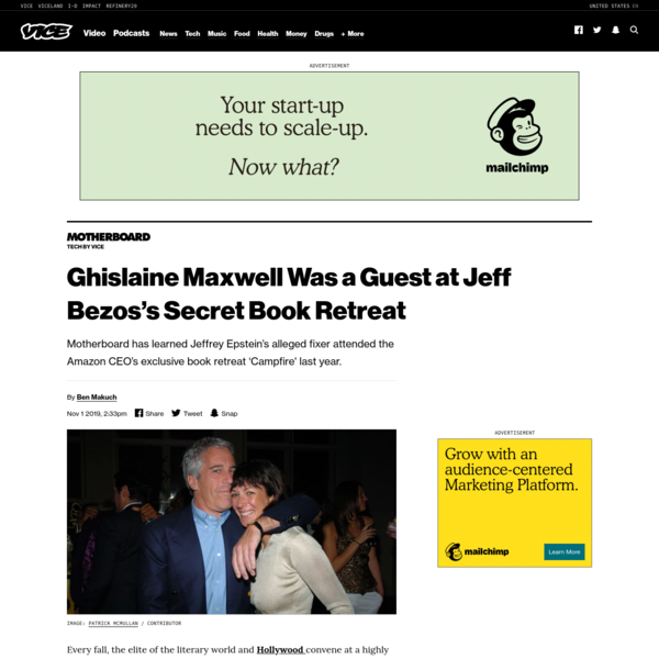 Ghislaine Maxwell Was a Guest at Jeff Bezos's Secret Book Retreat