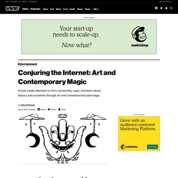 Conjuring the Internet: Art and Contemporary Magic