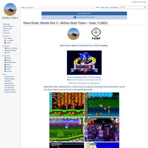 News/Sonic Month Part 5 - Before Hard Times - Sonic 3 (MD)