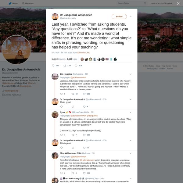 Dr. Jacqueline Antonovich on Twitter