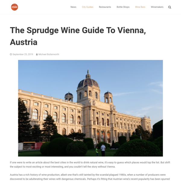 The Sprudge Wine Guide To Vienna, Austria