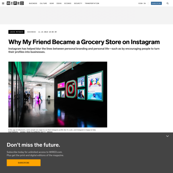 Chasing Instagram Analytics, People are Becoming Grocery Stores, Cruise Lines, and More