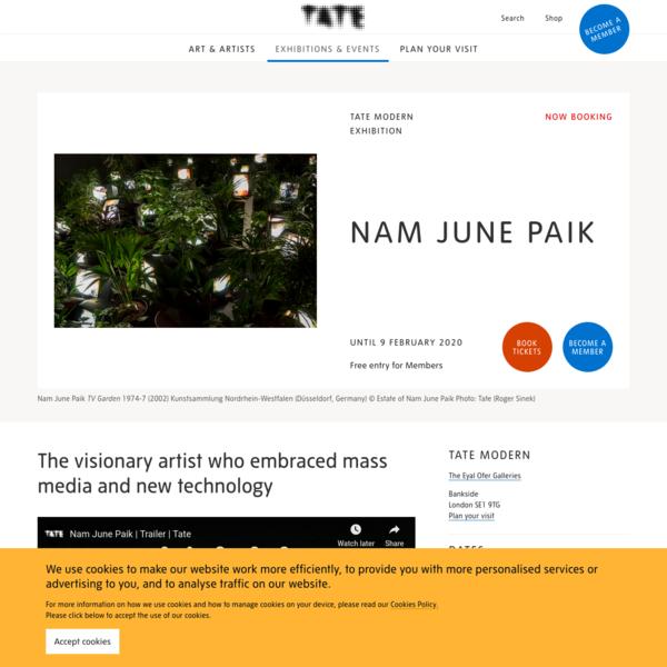 Nam June Paik - Exhibition at Tate Modern | Tate