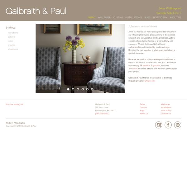Fabric - Galbraith & Paul