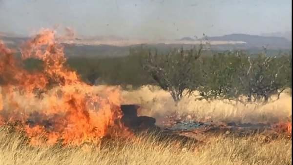Sawmill Fire - gender reveal explosion