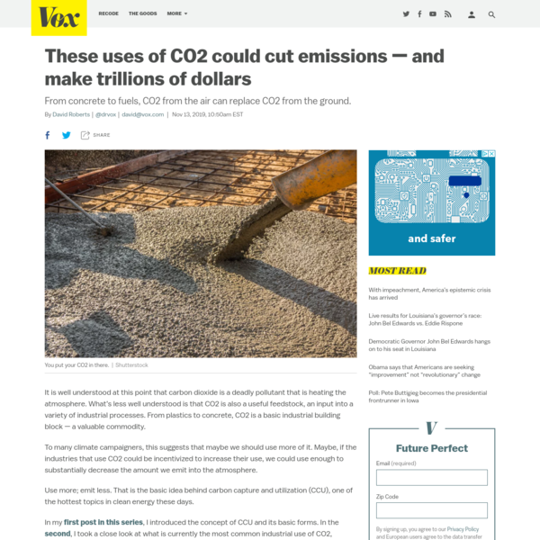 These uses of CO2 could cut emissions - and make trillions of dollars
