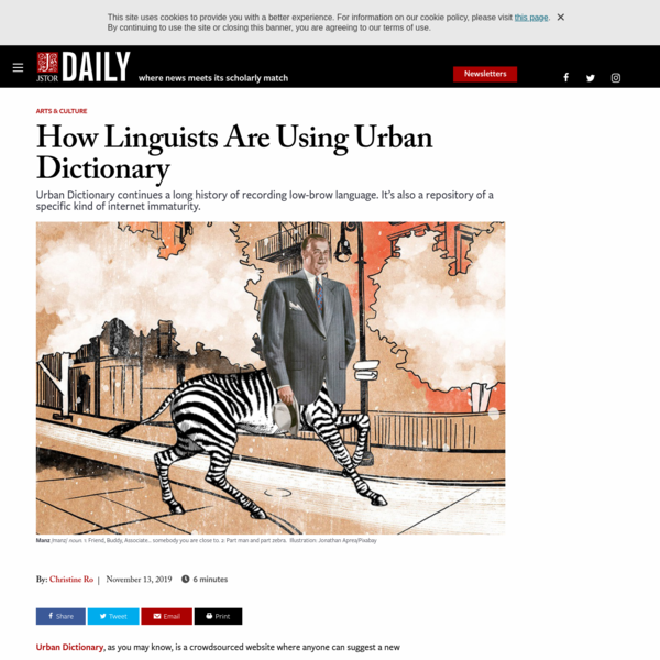 How Linguists Are Using Urban Dictionary | JSTOR Daily