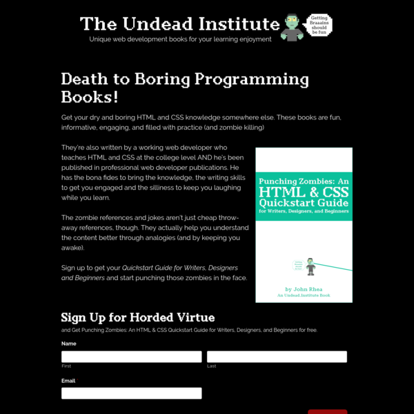 Death to Boring Programming Books! | The Undead Institute