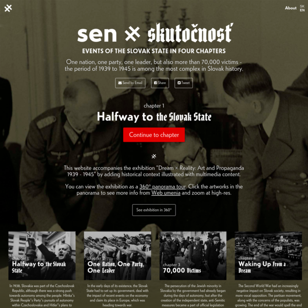sen × skutočnosť - Events of the slovak state in four chapters