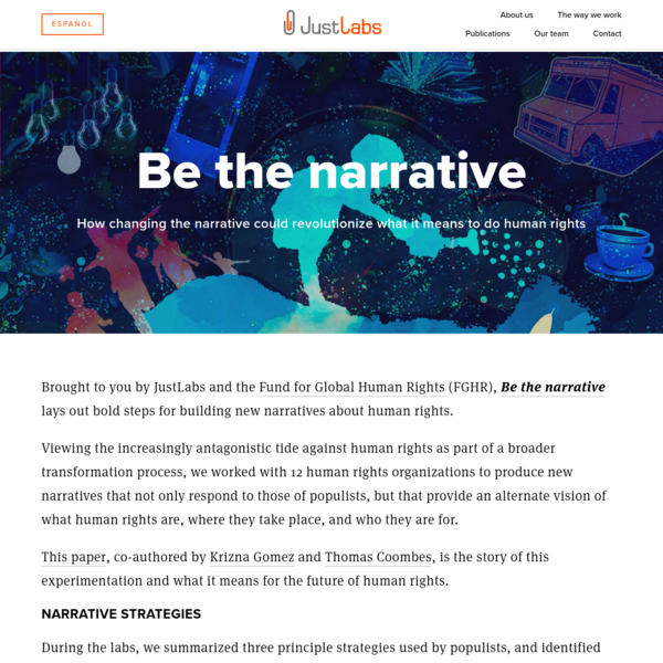 Be The Narrative - JustLabs