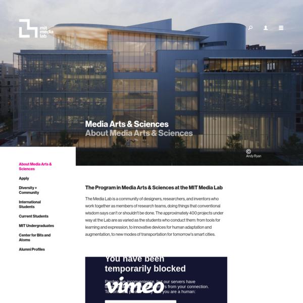 About Media Arts & Sciences - MIT Media Lab