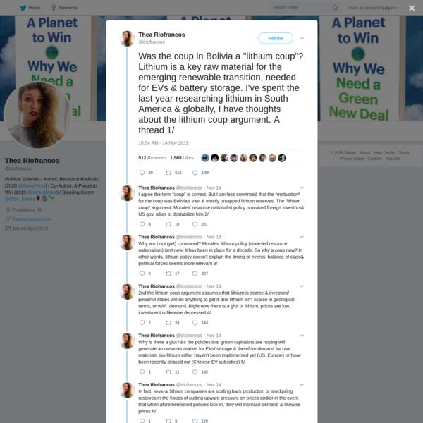 Thea Riofrancos on Twitter