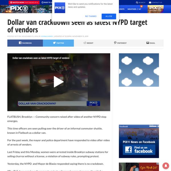 Dollar van crackdown seen as latest NYPD target of vendors – WPIX 11 New York