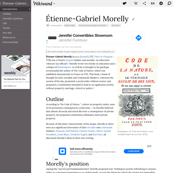 Étienne-Gabriel Morelly | Wikiwand