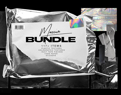 Plastic Wrap & Torn Paper Bundle by Marie T