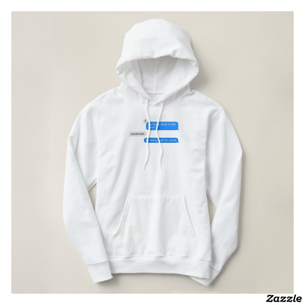 """""""you're the droid, is that rude? / zazzle that. / luv being a sub for zazzle"""" basic hoodie"""