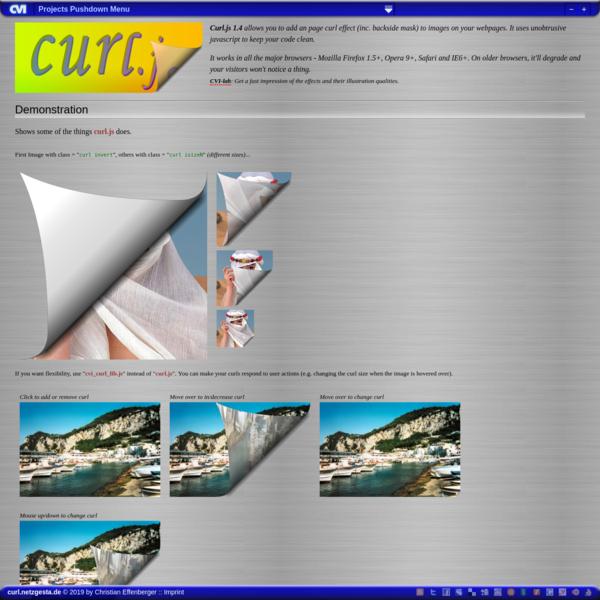 curl.js (javascript page curl image effect)