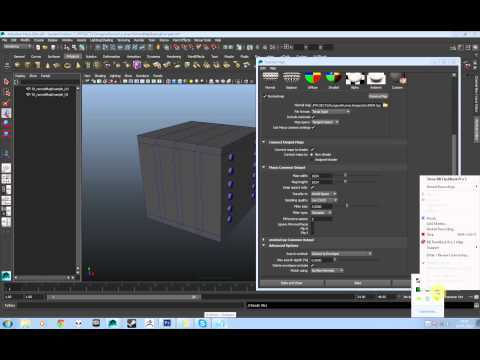 How to bake Normal Maps with Maya