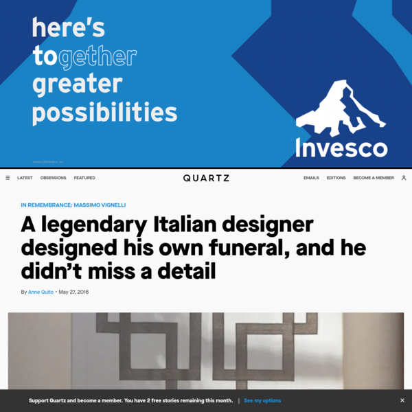 A legendary Italian designer designed his own funeral, and he didn't miss a detail