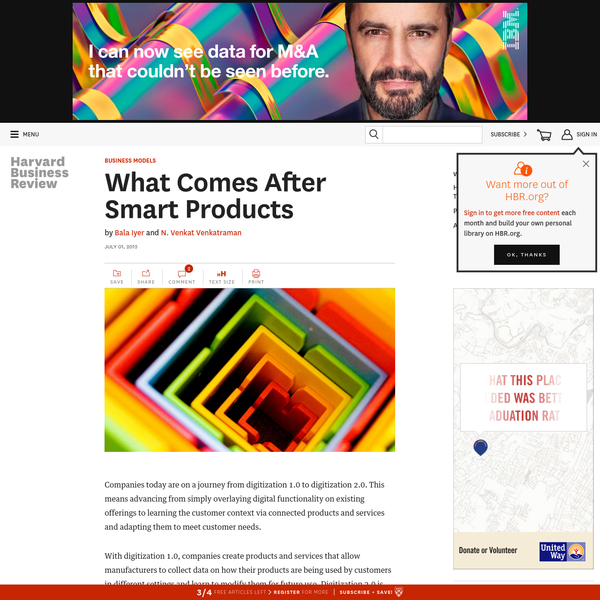 What Comes After Smart Products