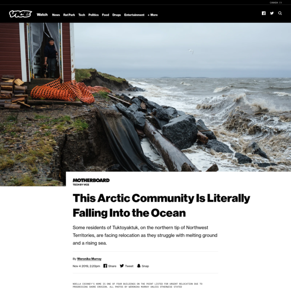 This Arctic Community Is Literally Falling Into the Ocean