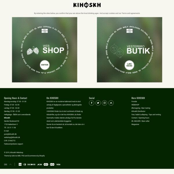 Specialøl, fadøl, specialiteter og økologiske produkter - Kihoskh salg
