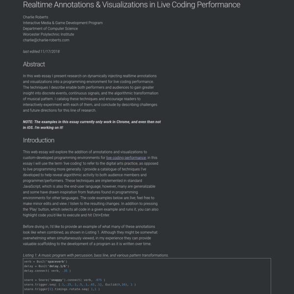 Realtime Annotations & Visualizations in Live Coding Performance
